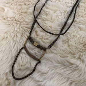 Anthropologie double chain necklace